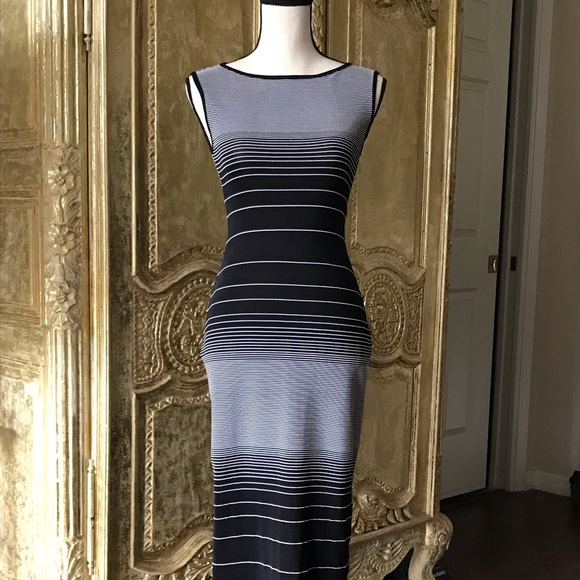 BCBG Dresses & Skirts - Vintage BCBG black and white bodycon dress